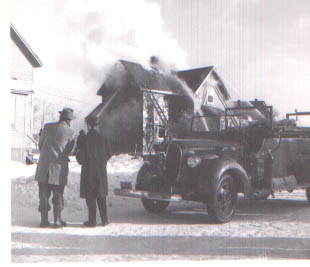 A fire on Circular Road in the early 1960's